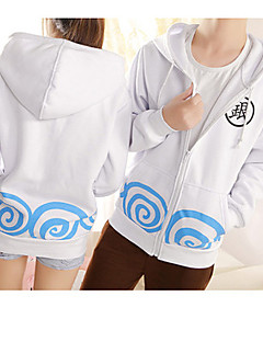 cheap Anime Costumes-Inspired by Gintama Gintoki Sakata Anime Cosplay Costumes Cosplay Hoodies Print Long Sleeves Top For Men's Women's