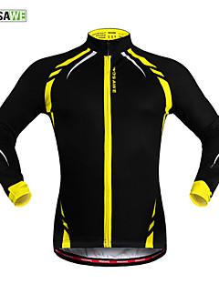 WOSAWE Cyklo bunda Unisex Jezdit na kole sako Dres Vrchní část oděvuZahřívací Větruvzdorné Zateplená podšívka Reflexní pásky
