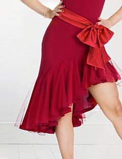 baratos Roupas de Dança Latina-Dança Latina Fundos Mulheres Espetáculo Elastano Pregueado Saia