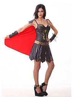 billige Halloweenkostymer-Soldat / Kriger Cosplay Kostumer Party-kostyme Dame Halloween Karneval Festival / høytid Halloween-kostymer Drakter Lapper
