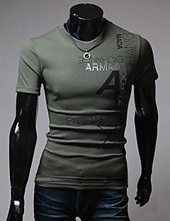 Χαμηλού Κόστους -Ανδρικά T-shirt Αθλητικά Στάμπα Γράμμα Βαμβάκι
