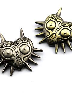 billige Anime cosplay-Smykker Inspirert av The Legend of Zelda Cosplay Anime / Videospil Cosplay Tilbehør Emblem / Brosje Gull / Sølv Legering Mann