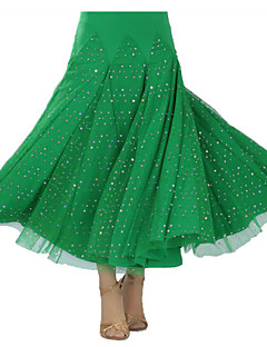 cheap New Arrivals-Ballroom Dance Tutus & Skirts Women's Performance Milk Fiber Draping Skirt