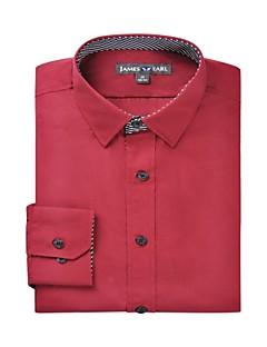 billige Herremote og klær-Klassisk krage Skjorte Herre - Ensfarget