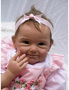 halpa Alkusyksy Lasten vaatteet-NPKCOLLECTION NPK DOLL Reborn Dolls Vauvat 22 inch Silikoni Vinyyli - Vastasyntynyt elävä Cute Käsintehty Lapsiturvallinen Non Toxic Lasten Tyttöjen Lelut Lahja / Lovely / CE / Käsityynyt silmäripset