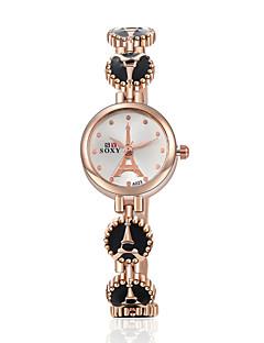 billige Armbåndsure-Dame Quartz Armbåndsur Legering Bånd Elegant / Mode Sort / Hvid