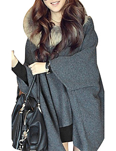 cheap Women's Sweaters-Women's Long Sleeves Cloak / Capes - Solid