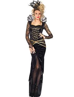 billige Halloweenkostymer-Eventyr Queen Cosplay Kostumer Party-kostyme Dame Jul Halloween Karneval Nytt År Festival / høytid Halloween-kostymer Svart Lapper
