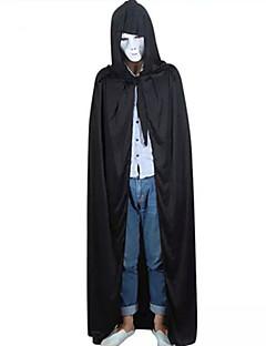 billige Halloween- og karnevalkostymer-Grim Reaper Kappe Herre Dame Halloween Jul Halloween Karneval Festival / høytid Polar Fleece Drakter Svart Lapper