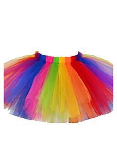 Mädchen Kleid / Rock-Urlaub Einfarbig Baumwolle / Polyester Sommer / Frühling / Herbst Mehrfarbig