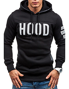 Men's Daily Sports Hoodie Letter Cotton Long Sleeve Winter Fall