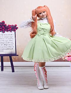 ワンピース/ドレス ゴスロリータ クラシック/伝統的なロリータ Steampunk® コスプレ ロリータドレス ゼブラプリント ノースリーブ ショート丈 ドレス ために レース コットン