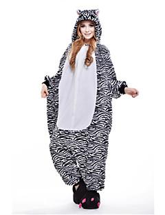 Kigurumi Pyjamas Sebra Kostume Svart Polar Fleece Kigurumi Trikot / Heldraktskostymer Cosplay Festival / høytid Pysjamas med dyremotiv