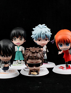 billige Anime cosplay-Anime Action Figurer Inspirert av Gintama Cosplay PVC 6.5 CM Modell Leker Dukke