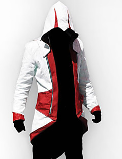 cheap Videogame Costumes-Inspired by Cosplay Video Game Assassinator Connor Jacket/Coat Cosplay Hoodie Cosplay Costumes Cosplay Suits Patchwork Long Sleeve Coat