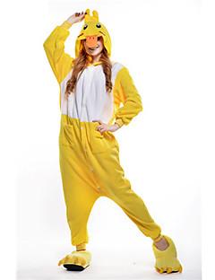 billige Kigurumi-Kigurumi-pysjamas And Onesie-pysjamas Kostume Polar Fleece Gul Cosplay Til Pysjamas med dyremotiv Tegnefilm Halloween Festival / høytid