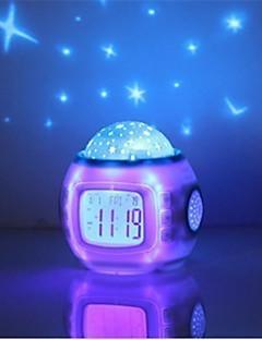 baratos Luzes de presente-HRY 1pç Música despertador Sky Projector NightLight Colorido Baterias AAA Alimentadas Para Crianças / Regulável / Cores Variáveis Bateria / 5 V
