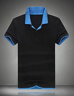男性用 半袖 ポロシャツ,コットン カジュアル / オフィス / スポーツ / プラスサイズ カラーブロック