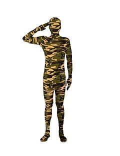 Costume Zentai Costum Ninja Zentai Costume Cosplay Verde Dungi Leotard/Onesie Zentai Spandex Lycra Unisex Halloween Crăciun