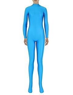 Costume Zentai Morphsuit Ninja Zentai Costume Cosplay Albastru 纯色 Leotard/Onesie Zentai Spandex Lycra Unisex Halloween Crăciun
