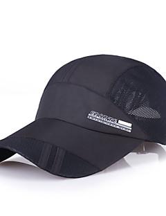billige Clothing Accessories-Cap visirer Hatt Vår Sommer Fort Tørring Løper Camping & Fjellvandring Fisking Klatring Herre Mesh Helfarge