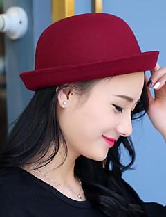 Kadın Sevimli / Günlük İlkbahar / Yaz / Kış / Tüm Mevsimler Pamuklu Kadın Fedora Şapka