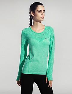 billige Løbetøj-Dame Løbe-T-shirt Kortærmet Hurtigtørrende, Åndbart, Blødhed T-Shirt / Toppe for Yoga / Campering & Vandring / Klatring Rose Rød / Grøn /