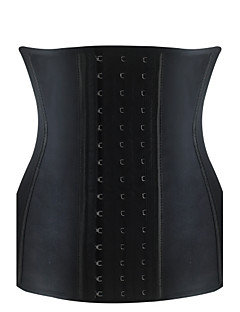 Burvogue Women's Steel Boned Latex Shaper Waist Training Corset Cincher