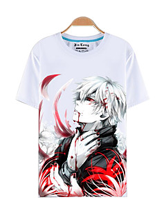 Inspired by Tokyo Ghoul Ken Kaneki Anime Cosplay Costumes Cosplay T-shirt Print Short Sleeves Top For Male