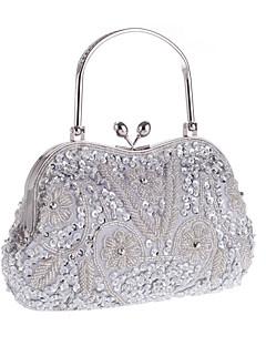hesapli -Kadın's Çantalar Polyester Gece Çantası Çiçekli için Düğün / Davet / Parti / Resmi İlkbahar yaz Mor / Koyu Gri / Açık Kahverengi / Düğün Çantaları / Düğün Çantaları
