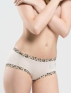 billige Moteundertøy-Dame Sexy Gutteshorts og underbukse - Lapper, Leopard Medium Midje