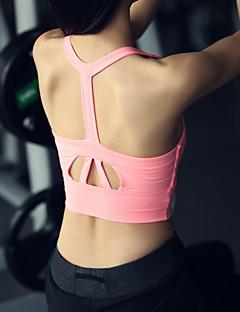 billige Løbetøj-Dame Racer Bagside SportsBH'er - Hvid, Sort, Lys pink Sport Undertøj / Toppe Yoga, Løb, Fitness Uden ærmer Sportstøj Åndbart, Anti-Rystelse, letvægtsmateriale Elastisk, Høj Elasticitet / Vinter