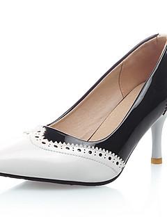 Topuklular-Parti ve Gece / Elbise-Topuklu / Sivri Burun / Ekli Burun-Yapay Deri-Stiletto Topuk-Siyah / Kırmızı / Beyaz-Kadın ayakkabı