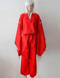 Inspiré par InuYasha Inu Yasha Manga Costumes de Cosplay Costumes Cosplay Kimono Couleur Pleine Manches Longues Haut Pantalon Ceinture