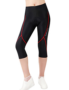 cheap Cycling Pants, Shorts, Tights-WOSAWE Cycling Padded Shorts Women's Unisex Bike 3/4 Tights Shorts Bottoms Bike Wear Quick Dry Anatomic Design Breathable Reduces Chafing