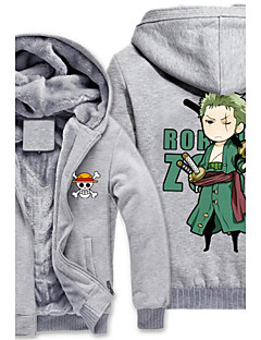 Esinlenen One Piece Monkey D. Luffy Anime Cosplay Kostümleri Cosplay Hoodies Desen Gri Uzun Kol Top Için