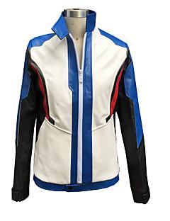 billige Videospill cosplay-Inspirert av Watch Sice video Spill Cosplay Kostumer Cosplay Suits Geometrisk Hvit Langt Erme Jakke / Hansker