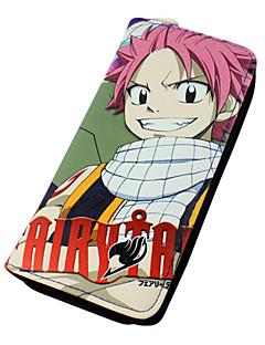 billige Anime Cosplay Tilbehør-Veske Lommebøker Inspirert av Eventyr Natsu Dragneel Anime Cosplay-tilbehør Lommebok PU Leather Herre Dame
