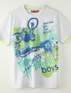Poikien Painettu Polyesteri T-paita, Kesä