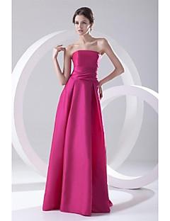 billige Høst 2013-A-linje Stroppeløs Gulvlang Taft Formell kveld Kjole med Plissert av TS Couture®