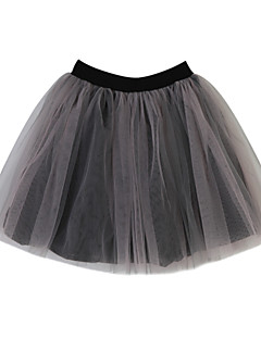 Jacquard Skirt,Cotton Summer Lace Black