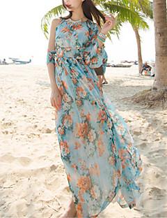 Χαμηλού Κόστους SINCE THEN-Παραλία Μπόχο Swing Φόρεμα - Φλοράλ Μακρύ Ψηλοκάβαλο / Καλοκαίρι