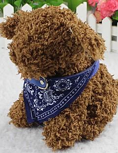 billiga Hundkläder-Katt Hund Snusnäsdukshalsband Mode Blomma Tyg Svart Purpur Röd Blå Rosa