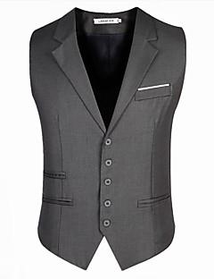 voordelige Overkleding-Heren Vest Effen Slank Katoen Moderne Style