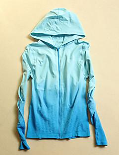 billiga Träning-, jogging- och yogakläder-Dam T-shirt för jogging - Svart, Yan Rosa, Himmelsblå sporter Mode Collegetröja / Överdelar Långärmad Sportkläder Snabb tork,