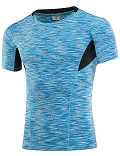 cheap Fitness Clothing-Men's Running T-Shirt Quick Dry Wearable Breathable Sweat-wicking T-shirt Top for Exercise & Fitness Running 85% Polyester 15% Spandex
