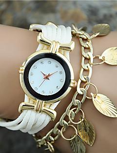 billige Armbåndsure-Dame Quartz Armbåndsur Hot Salg Stof Bånd Vedhæng Mode Sort Hvid Blåt Rød Guld Rose