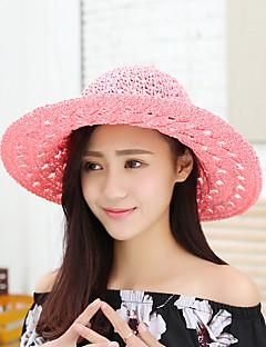 Χαμηλού Κόστους Breezy & Chic Straw Hats-Γυναικεία Ουράνιο Τόξο, Βίντατζ Καθημερινό Ψάθινο καπέλο Καπέλο ηλίου