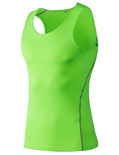 billige Løbetøj-Herre Løbe-T-shirt / Løbesinglet / Kampvogn - Rød, Grøn, Blå Sport Vest / Tank Tops / Toppe Træning & Fitness, Løb Hurtigtørrende,