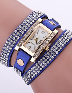 お買い得  フローラルパターン 腕時計-女性用 クォーツ リストウォッチ ブレスレットウォッチ / カジュアルウォッチ レザー バンド 花型 ボヘミアンスタイル ファッション ブラック 白 ブルー レッド ピンク パープル